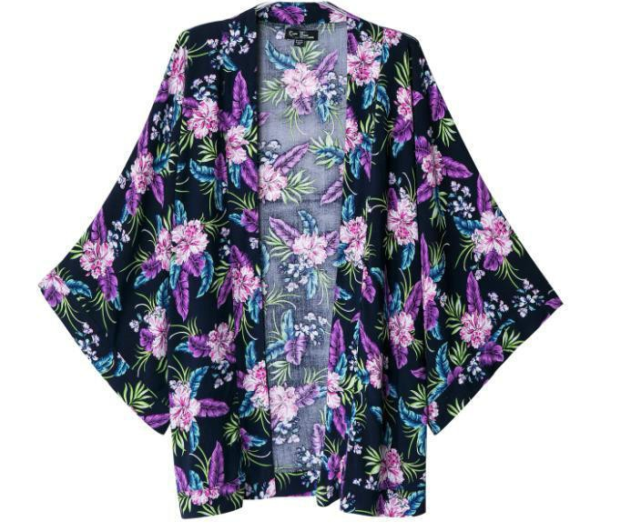 Fashion ladies' elegant floral print kimono by country fashion