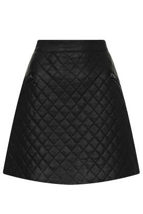Tall Quilted Aline Skirt - Topshop