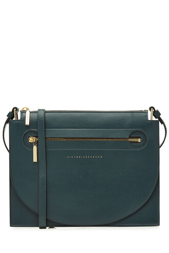 bag shoulder bag leather blue