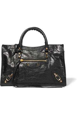 classic leather black bag