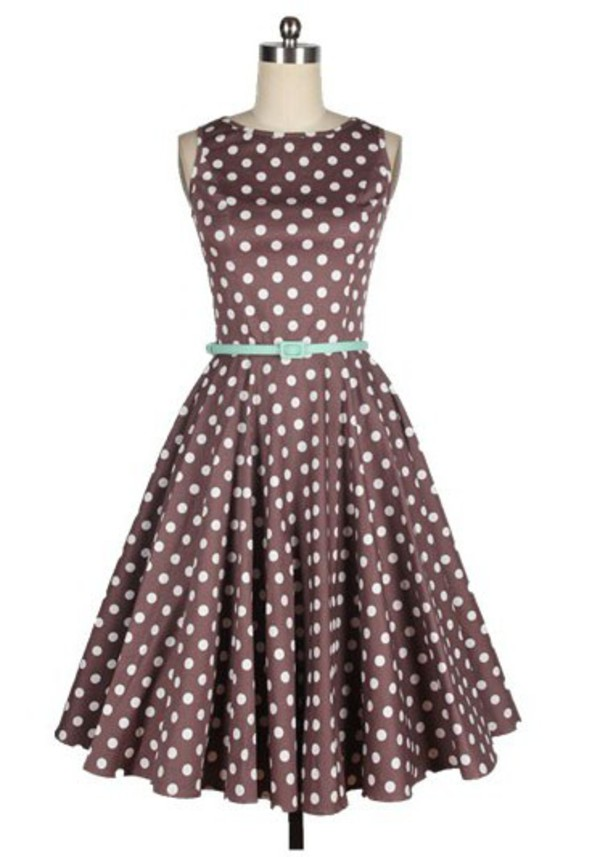 50s style fashion dress vintage vintage dress 50s dress retro 50s style fashion polka dots polka dots dress cute cute dress retro dress