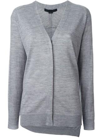 cardigan women grey sweater