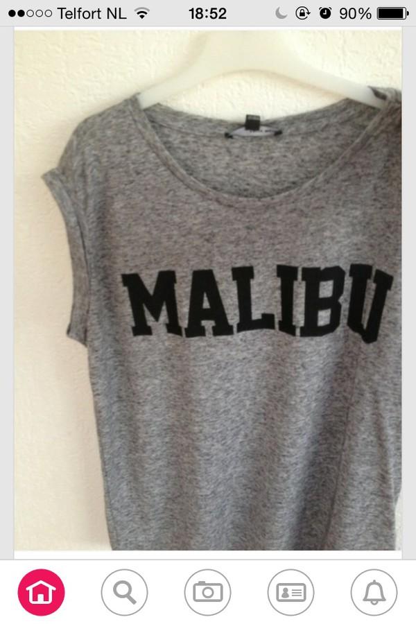 malibu t-shirt grey shirt