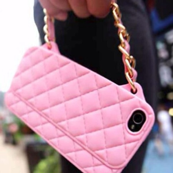bag chain purse pink iphone wallet purse/iphone case