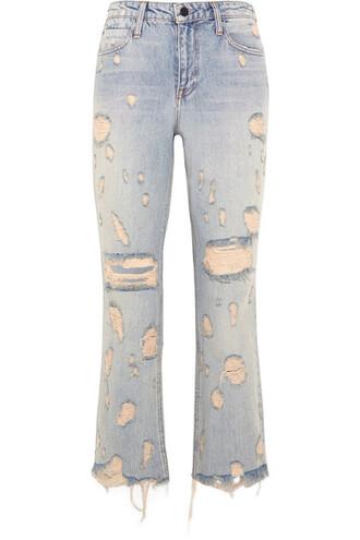jeans denim cropped high light