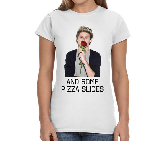 one direction niall horan directioner 1d band t-shirt concert tee pizza