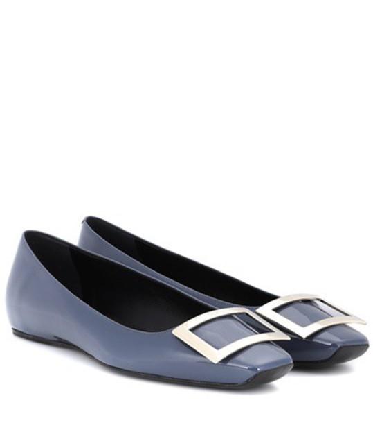 Roger Vivier leather blue shoes