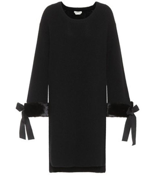 Fendi dress fur black