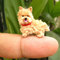 Fawn cairn terrier puppy - tiny crochet miniature dog stuffed animals - made to order