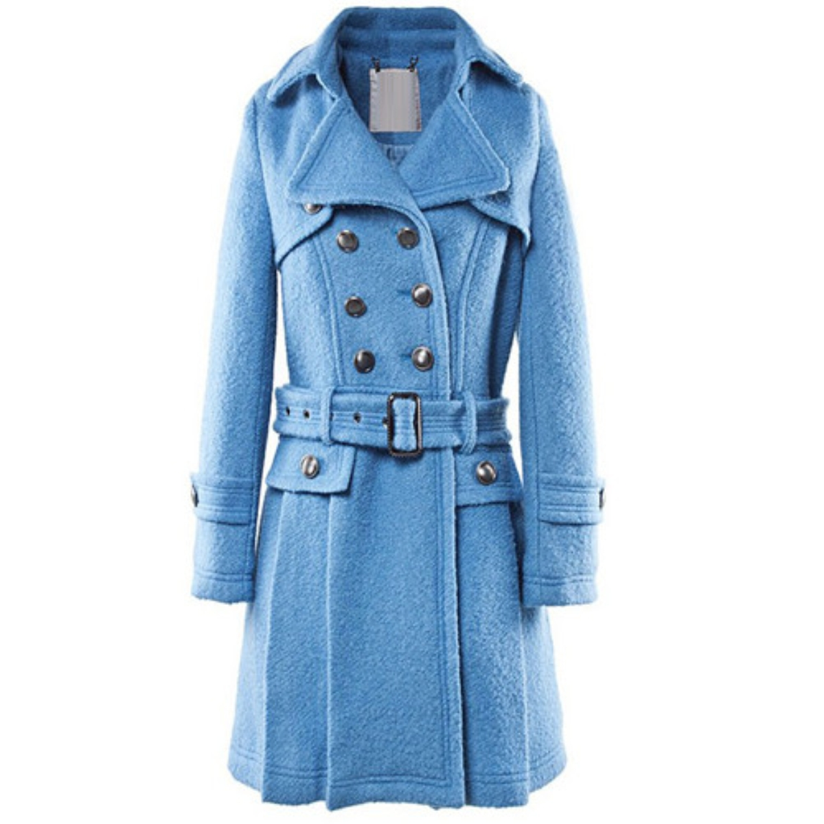 Lapel Double-Breasted Woolen Coat,Cheap in Wendybox.com