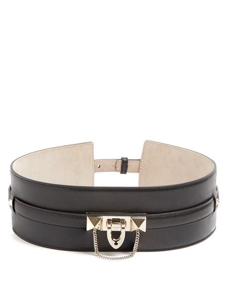 Valentino embellished belt waist belt leather black
