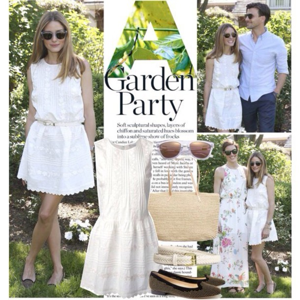dress olivia palermo white dress garden party wheretoget - Garden Party Dress