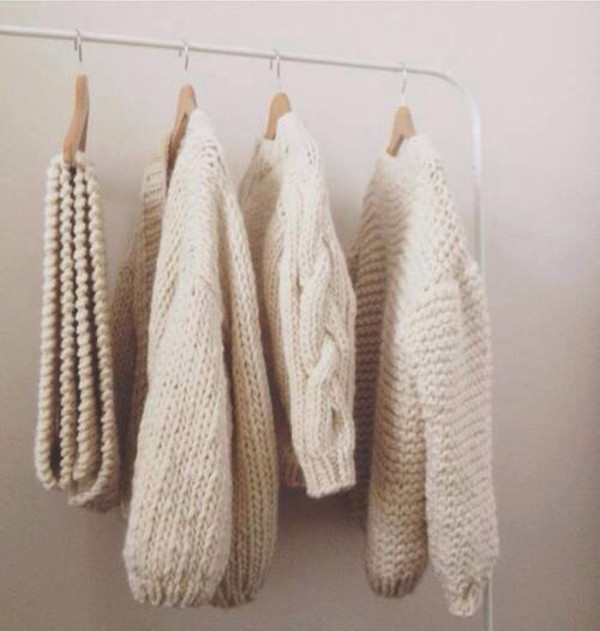 sweater tumblr knit knitwear knitted sweater ivory beige cropped cropped sweater tumblr clothes