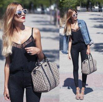 jumpsuit clothes girl bag shoes black playsuit black