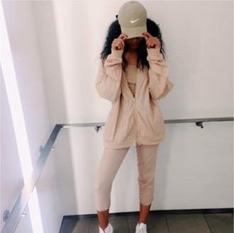 jacket brown pants