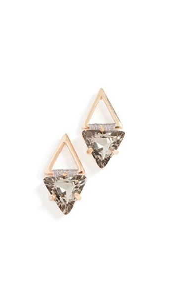 Rebecca Minkoff geometric earrings stud earrings metallic gold black jewels
