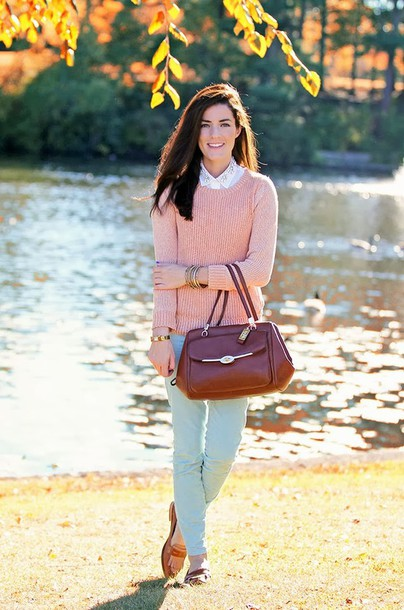 classy girls wear pearls sweater pants shoes bag jewels rh wheretoget it