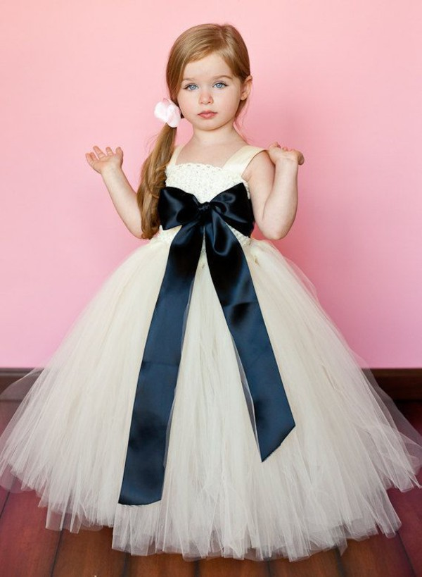 Пышные платья для девочек из фатина