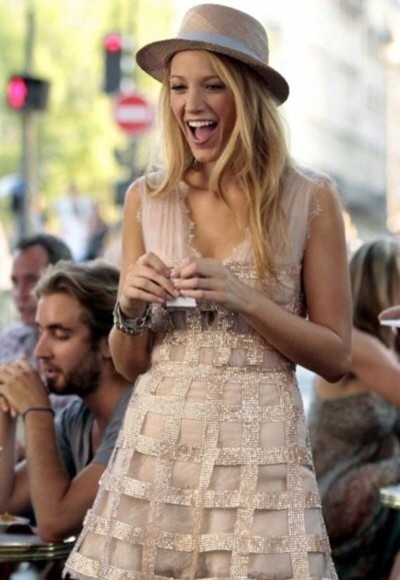 blake lively dress gold dress