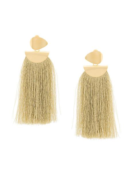 LIZZIE FORTUNATO JEWELS tassel women earrings gold yellow orange jewels