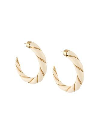 earrings hoop earrings nude jewels