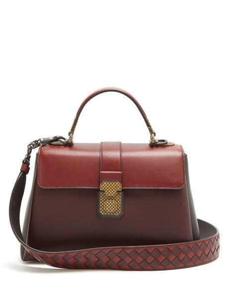 Bottega Veneta bag leather bag leather burgundy