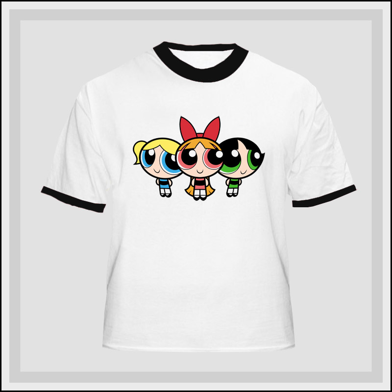 Power Puff Girls Cartoon Network T Shirt - 211259b Ringer - - Best Tees Online All Shirts Ship out