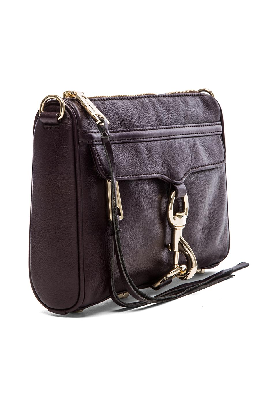 Rebecca Minkoff Mini MAC in Black Cherry from REVOLVEclothing.com