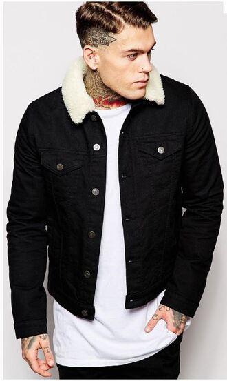 jacket retro vintage coat mens jacket black jacket tattoo asos
