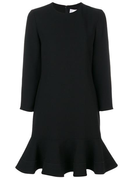 dress shift dress women black silk