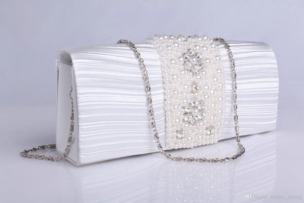 bag bridal hand bags handbag handbag wedding accessories pearls hand bags