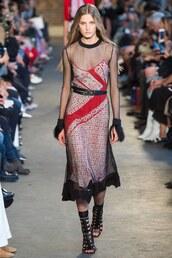 dress,altuzarra,mesh,mesh dress,midi dress,runway,Paris Fashion Week 2017,fashion,blogger