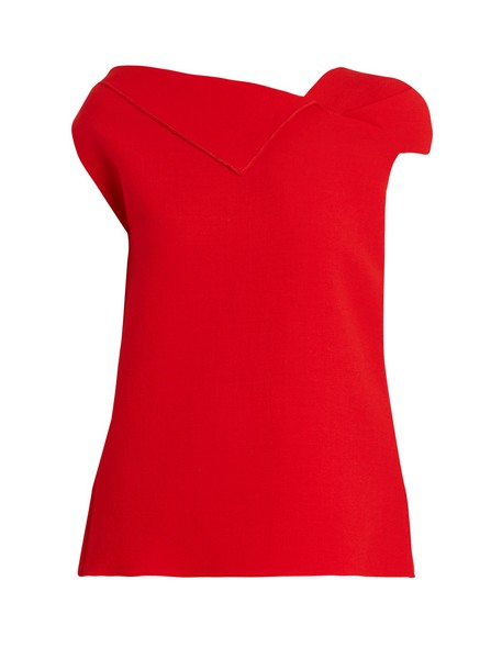 Roland Mouret top wool red