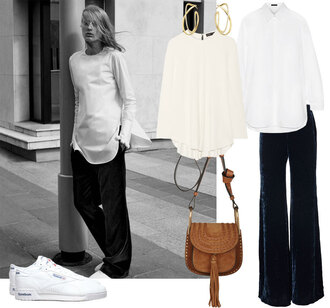 look de pernille blogger jewels blouse shirt pants shoes bag