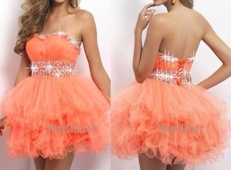 dress orange dress glitter