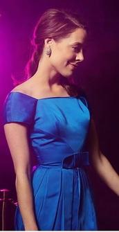 dress,erika henningsen,blue,blue dress,royal blue