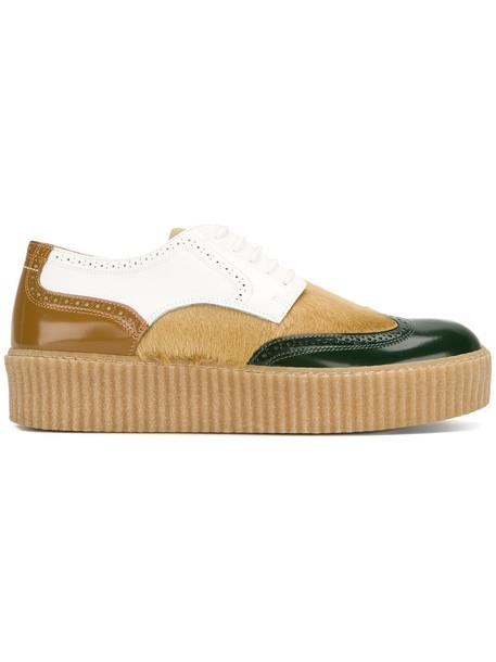 Mm6 Maison Margiela hair women leather nude shoes