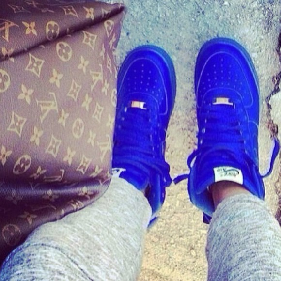 shoes blue shoes nike air jordan 1 high