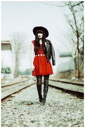 jag lever,blogger,shoes,dress,jacket,hat
