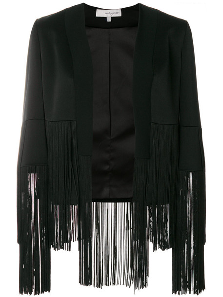 Galvan jacket fringed jacket women spandex black