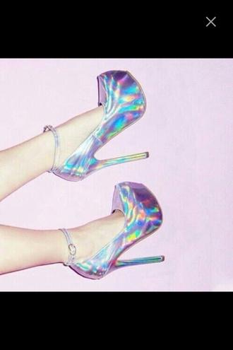 shoes rainbow high heels