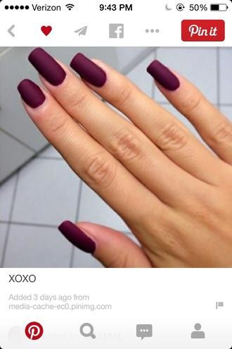 nail polish wine red nail matte