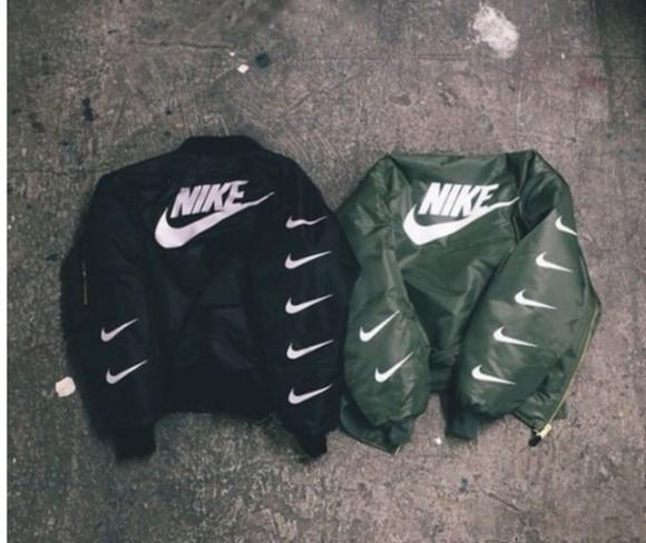 jacket black jacket nike jacket nike military green winter jacket winter/autumn beautiful jacket swag jacket