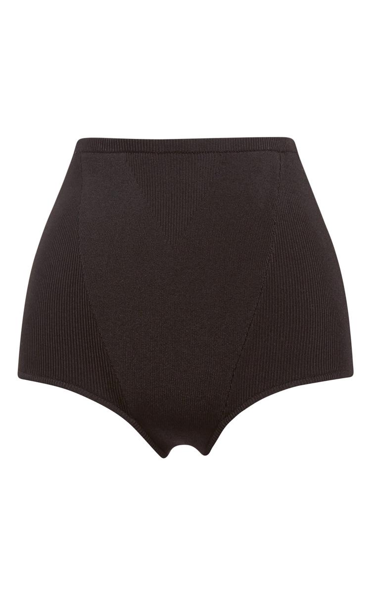 Black stretch viscose knits knit briefs by proenza schouler