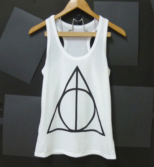 triangle triangle top graphic top white tops women tops teen girl tops harry potter shirt