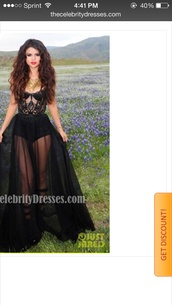 dress,selena gomez,prom dress,black prom dress,lace,music video