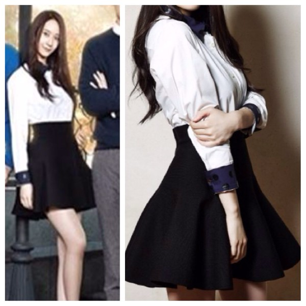 shirt krystal fx skater skirt the heirs skirt
