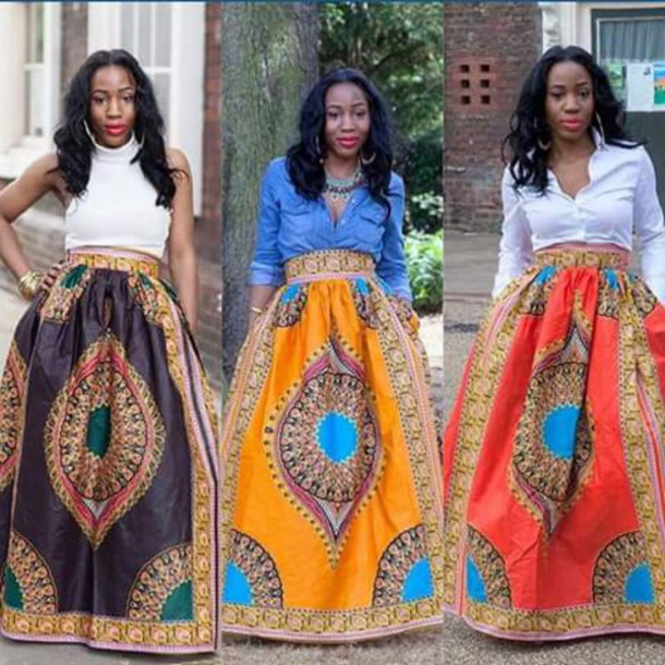 skirt african style wax fabric stella jean