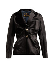 blazer,black,satin,jacket