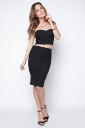 skirt,pencil skirt,high waisted skirt,black pencil skirt,black skirt,eyelet skirt,eyelet